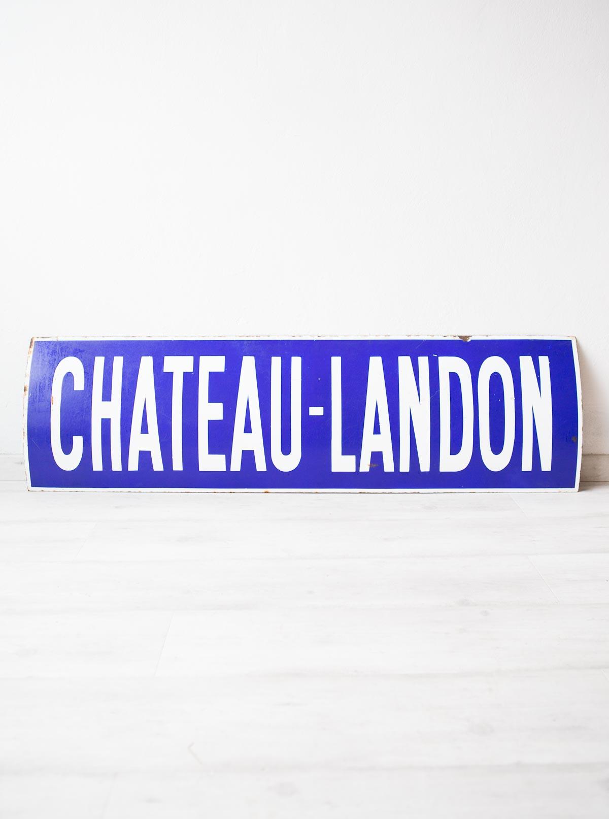 Plaque Metro Parisien Deco antigua placa esmaltada metro paris. chateau landon · plaque émaillée metro  parisien