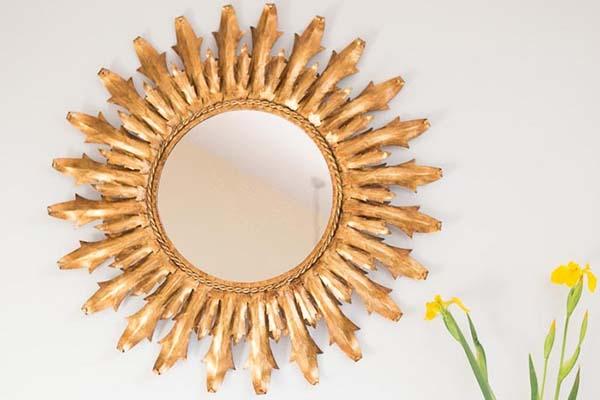 8182 espejo-sol-metal-dorado